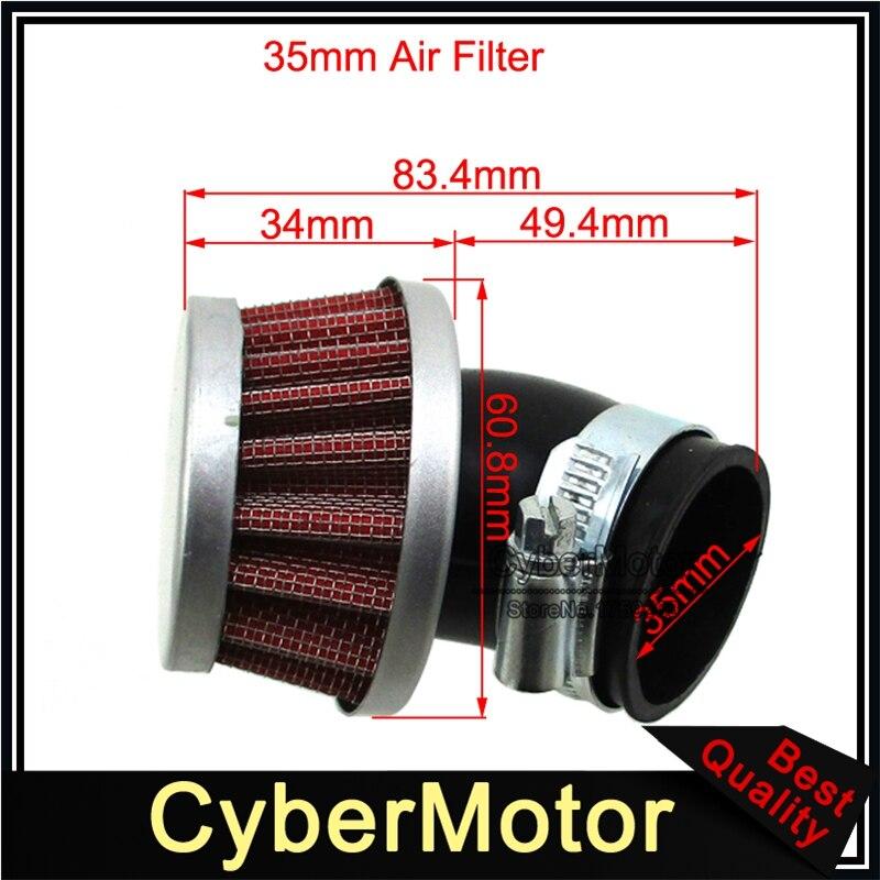 Petit Filtre à air Coudé 35mm Pour Honda Mini Bike Z50 TRX70 TRX90 Pit Dirt Moto