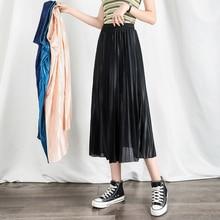 Summer Women Elegant Pleated Skirt High Waist Long Skirt A Line Vintage Dress Chiffon Comfortable Clothes Casual Fashion Skirt