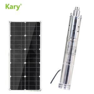 Kary 120 m lift 48v 60v DC погружной Солнечный водяной насос, S483T-120 модель 1 hp 1.5HP глубоководные солнечные водяные насосы