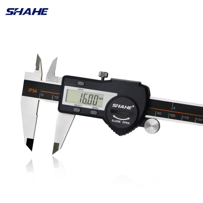 Aço inoxidável endurecido shahe 0-150mm digital caliper messschieber caliper eletrônico vernier micrometro