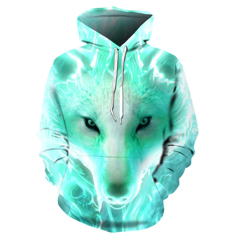 Wolf 3d Printed Hoodie Men Hoodies Casual Sweatshirts Boy Jackets Quality Pullover Fashion Tracksuits Animal Streetwear Out Coat