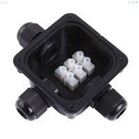 10 pces novo estilo 3 way caixa de junção ip 68 conectores à prova dwaterproof água para iluminação exterior caixa de junção externa cabo e fio|Caixas de junção de fios| |  -