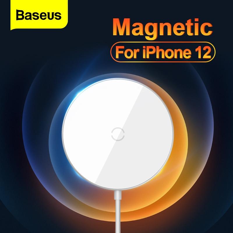 Baseus-cargador inalámbrico magnético para móvil, cargador de carga rápida, almohadilla de inducción para iP Xiaomi, para iPhone 12 Pro Max Mini Qi de 15W PD