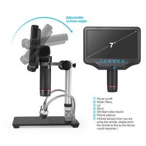 Image 5 - Andonstar AD407 3D HD dijital mikroskop 7 inç LCD ekran elektronik lehimleme mikroskop SMT/SMD telefonu tamir