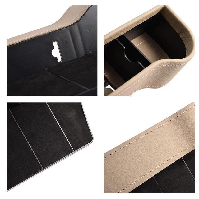 Car Seat Gap Storage Box Cup PU Leather Pocket Catcher Organizer Phone Bottle Cups Holder Multifunctional Car Accessories 3