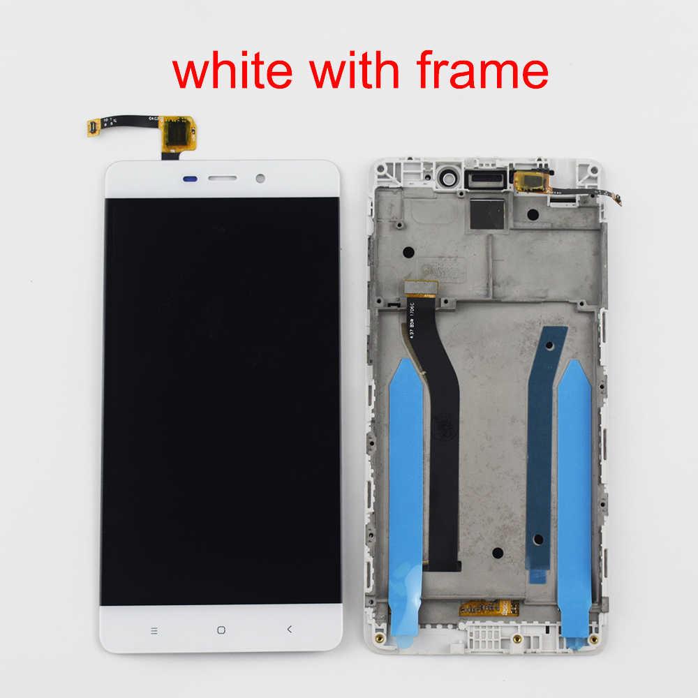Para Xiaomi Redmi 4 Pró Redmi 4 Prime Touch Screen Digitador Sensor De Vidro + Display LCD Módulo Do Painel de Tela Do Monitor quadro montagem