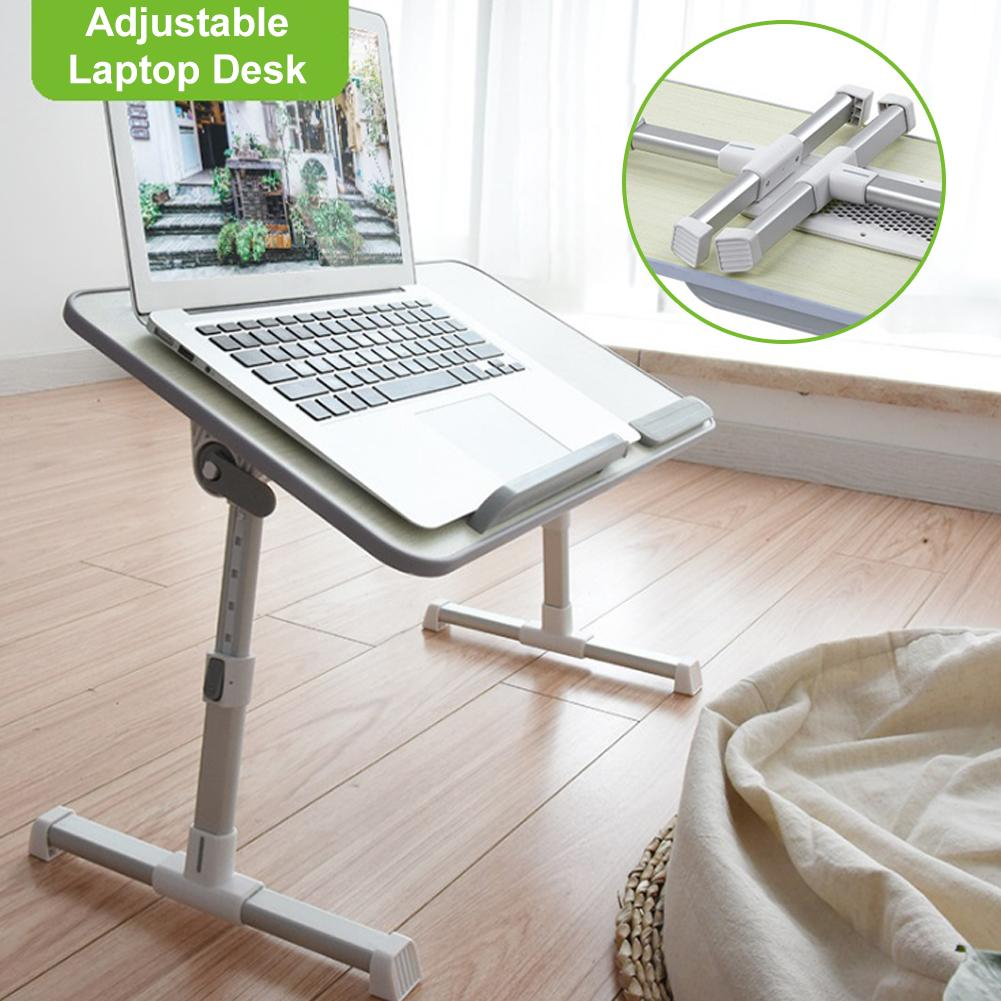 Adjustable Laptop Holding Desk Multifunctional Folding Lifting Bed Table with fan for Home School Office