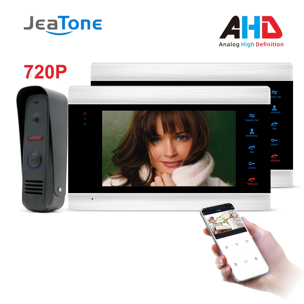 7'' WiFi Smart IP Wired Video Door Phone Intercom System 960P Indoor Monitor With 720P AHD Doorbell Camera Support Mobile Phone