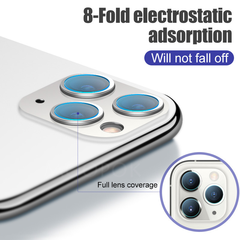 4 1Pcs Camera Protector Glass For iPhone 11 X XR XS Pro Max Screen Protector Glass
