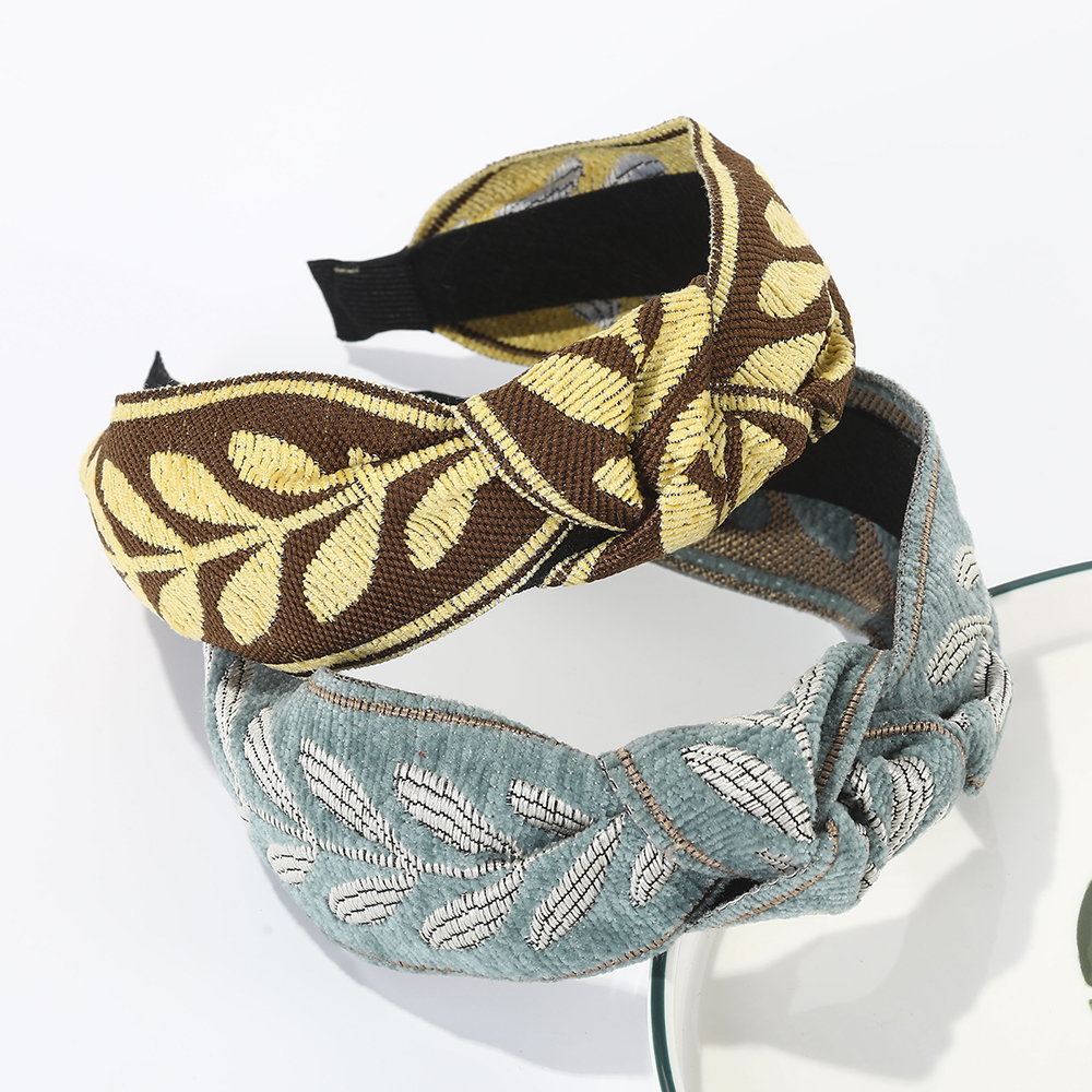 Haimeikang Knotting Wide-brimmed Bezel Hair Accessories Hair Hoop Women Fashion New Headwear Headband Fabric Retro Headdress
