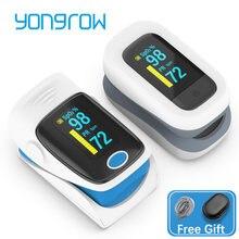 Yongrow casa médica digital dedo oxímetro de pulso saturação oxigênio no sangue medidor de freqüência cardíaca monitor cuidados saúde tonômetro