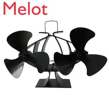 6-blade Fireplace Fan - Dual Motor Hot Blast Stove Dedicated To Fireplace Wood / Burning Stove Fan Fireplace Home Efficient Fan