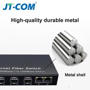 Image 2 - Gigabit SFP Fiber Switch  1000Mbps Optical Media Converter 4 * SFP Fiber Port and 2  RJ45 UTP Port 4/8G2E Fiber Ethernet Switch