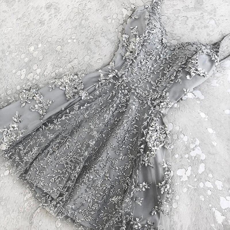 Women Summer Short Spaghetti Strap Formal Dress High Waist Night Party Beach Dresses Sundress