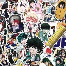 73 шт., наклейки на чемодан My Hero Academy, скейтборд для ноутбука, изюку, Might Boku, No Hero Academy, аниме, персонажи, наклейки F3