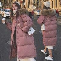 Parka Herbst Winter Jacke Frauen Kleidung Vintage Warme Mantel Weibliche frauen Unten Baumwolle Jacke Warme Starke Lange Parkas Übergroßen