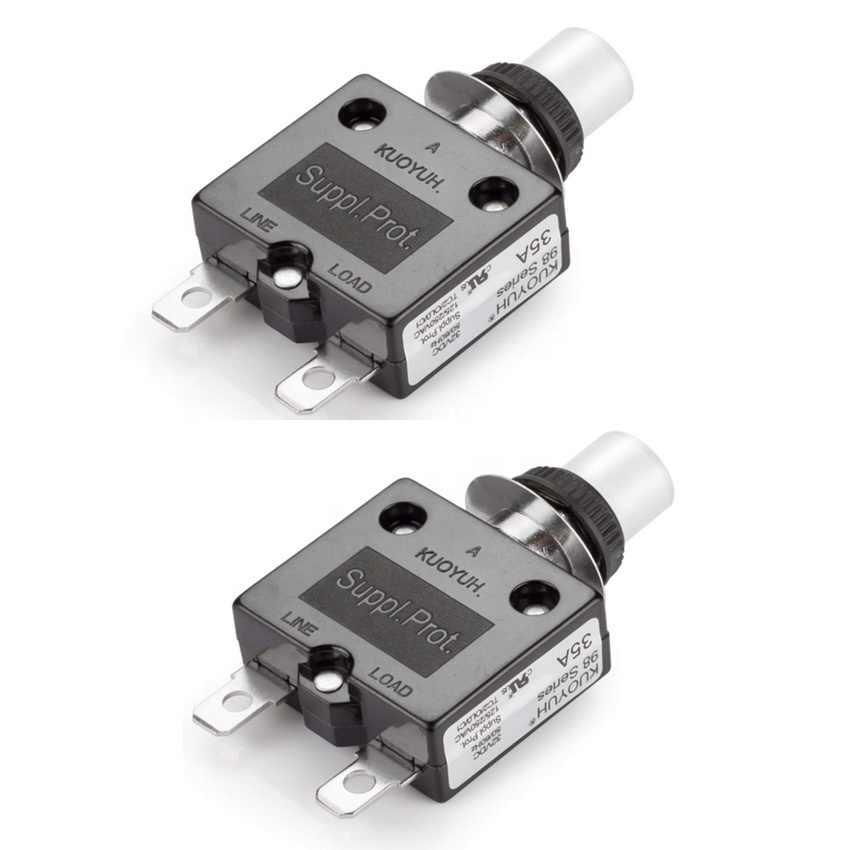 Kuoyuh 98 16a botão de pressão redefinir protetor de sobrecarga restauração automática disjuntor miniatura