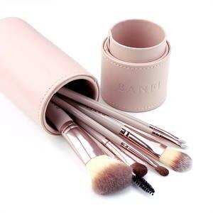 Image 3 - 7 Pçs/set Pincéis de Maquiagem Kit de Beleza Make up jogo de Escova Concealer Cosméticos Pincel de Blush Fundação Eyeshadow Concealer Lip Eye Ferramenta