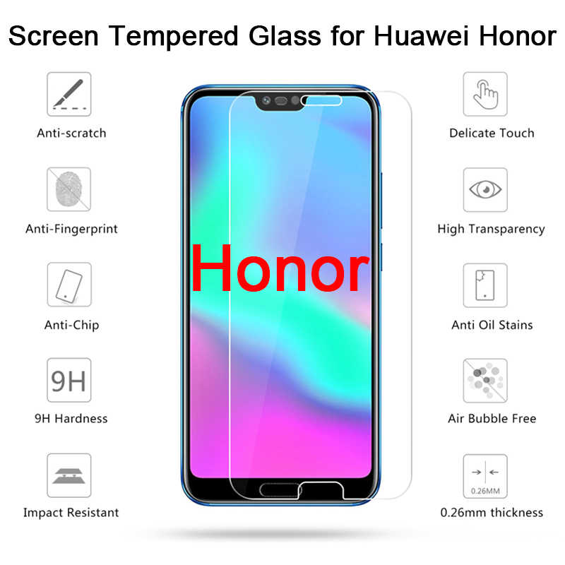 2 Buah HD Pelindung Kaca untuk Huawei Kehormatan 20 PRO 8 9 Lite Pelindung Layar untuk Kehormatan 10 Lite 10i 20i Tempered Glass Bening Film