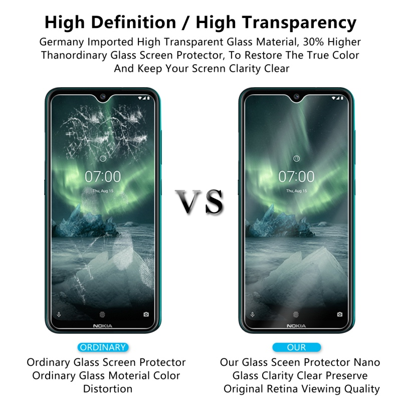 Image 5 - 2Pcs Tempered Glass For NOKIA 7.2 6.2 4.2 3 V 3.1 C 3.1 A 2.2 3.2 4.2 Screen Protector 9H Tempered Glass For Nokia 1 Plus X71-in Phone Screen Protectors from Cellphones & Telecommunications