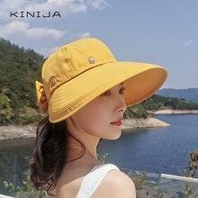 Двухслойная летняя Складная Солнцезащитная шляпа ветрозащитная