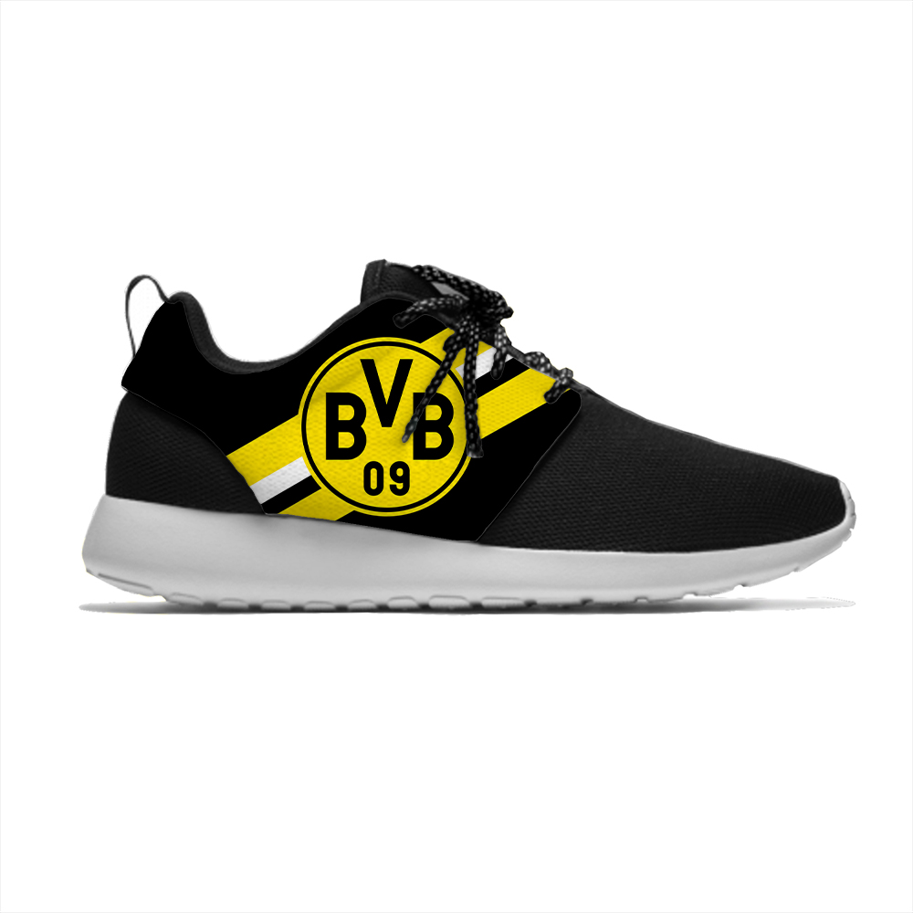 Dortmund Lightweight Sport Breathable Casual Sneakers Men/Women Borussia Soccer Football Fans Running Meshy Athletic Shoes