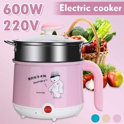 Rice Cooker 1.8L Portable Multifunction Mini Electric Rice Cooker Eggs Steamer Cooking Pot Non-stick Coating 2 Speed Adjustment