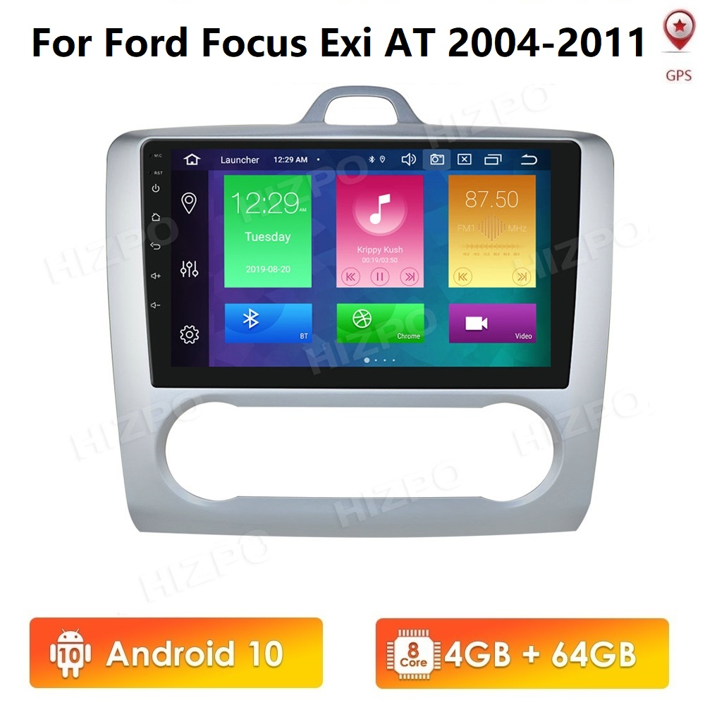 4G+64G Android 10 PX5 8 Core For ford focus 2 Mk2 2004-2011 Car Radio Multimedia Video Player Navigation GPS RDS 2 din Bluetooth image