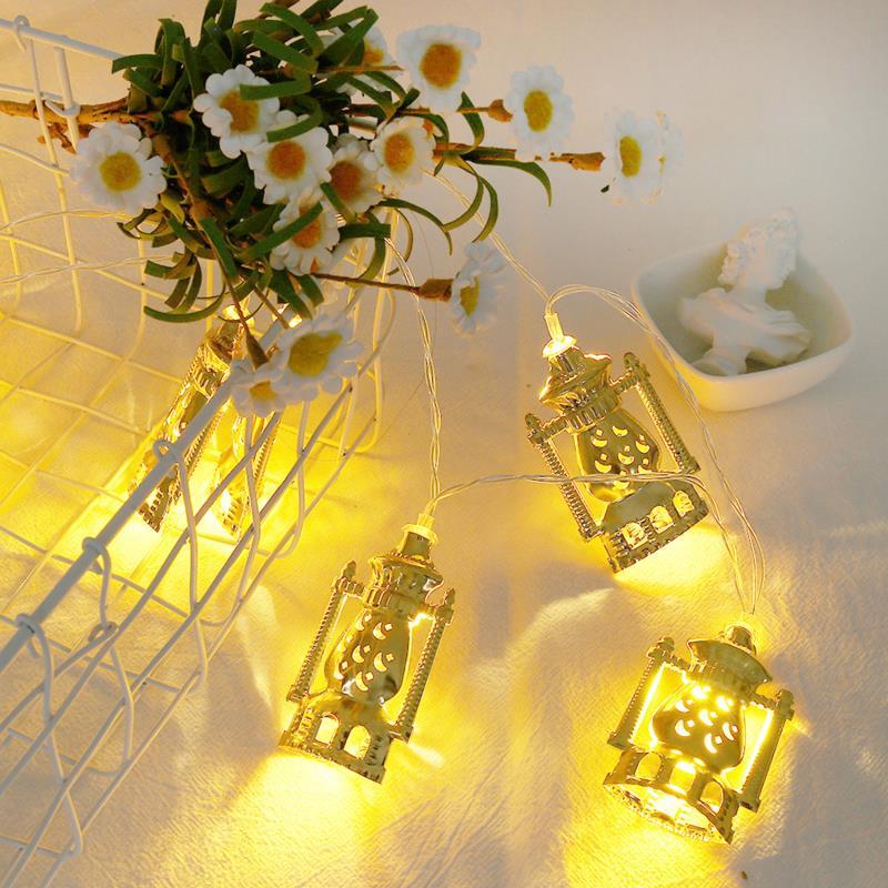 Led Moon Star Castle Led Light String Eid Mubarak Ramadan Home DecorRamadan Kareem Eid Lantern Gifts Oil Lamp Light String