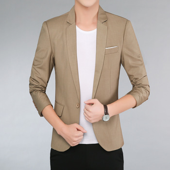 2020 of Field Capacity Men Spring New Slim Casual Suit Adolescent Professional Work Solid Non-Iron blazer