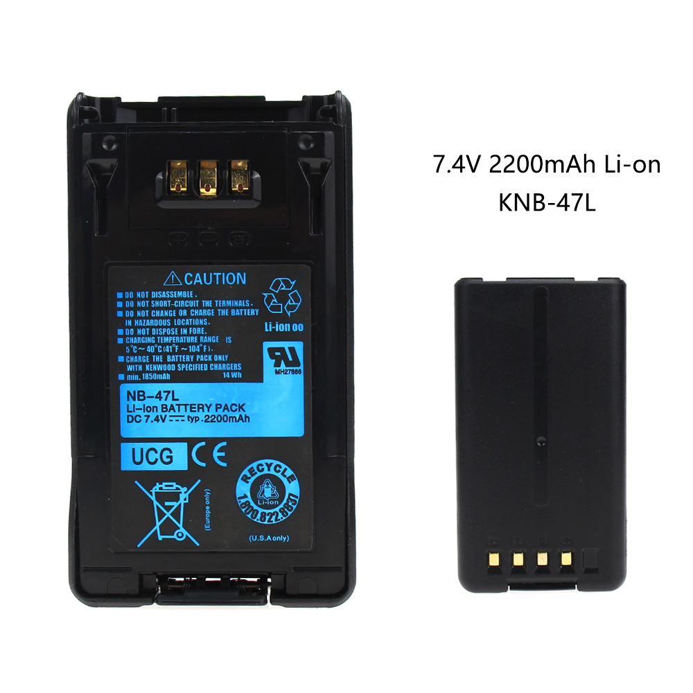 1800mah KNB-47L Battery For Kenwood TK-5220 TK-5320 NX-200 NX-300 Two-Way Radio