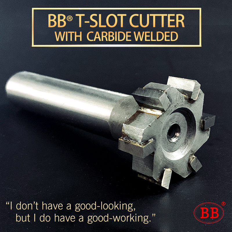 BB Carbide Brazing Alloy T-slot Milling Cutter With Welding Inlay YG6 YW2