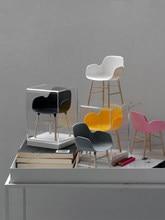 Forma poltrona miniatura blythe 1/6 bjd dollhouse móveis brinquedos mini modelo moda bonecas acessórios cadeira ornamentos decoração de casa