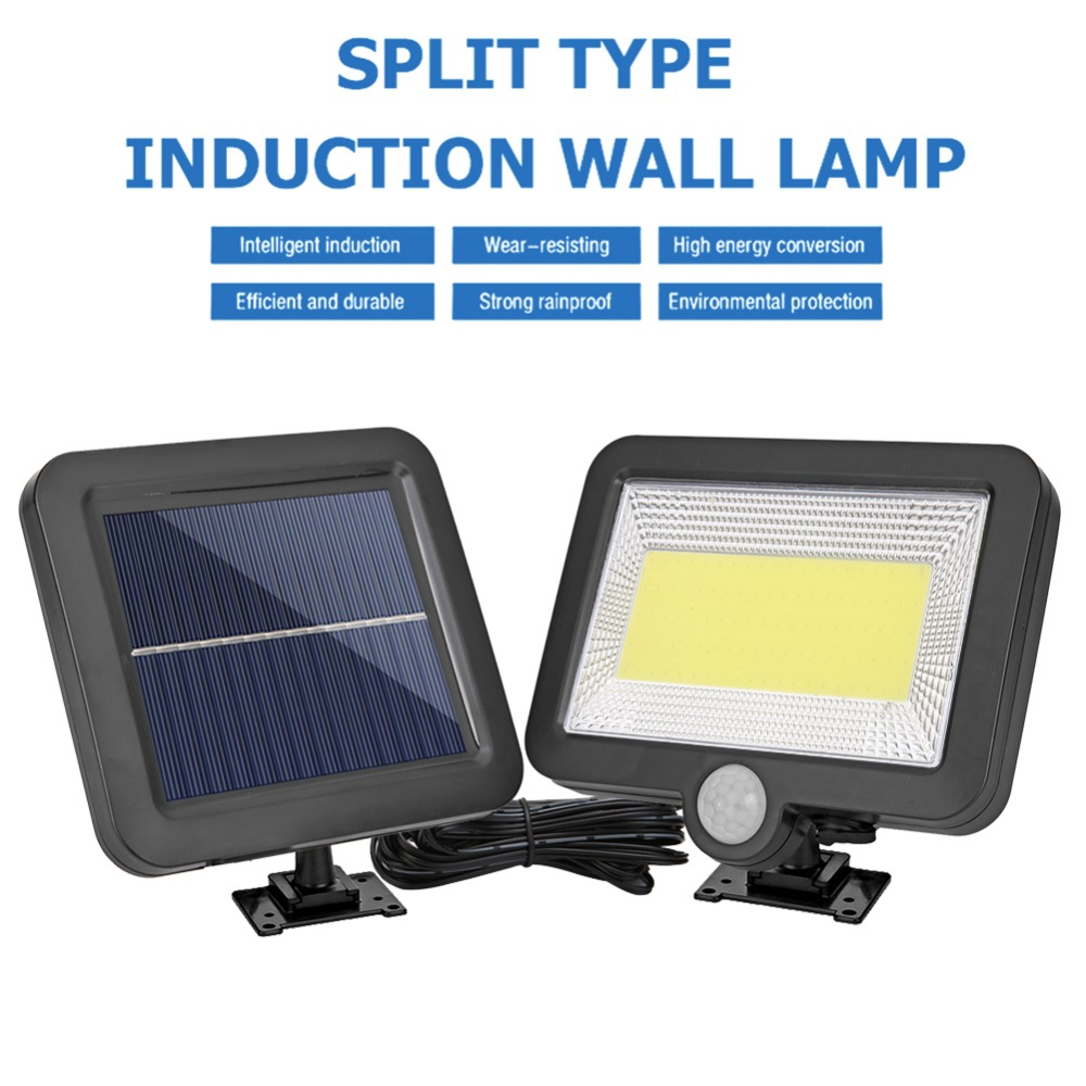 COB Wall Mounted Solar Outdoor Light with 120LED and Motion Sensor Suitable for Street and Garden 22