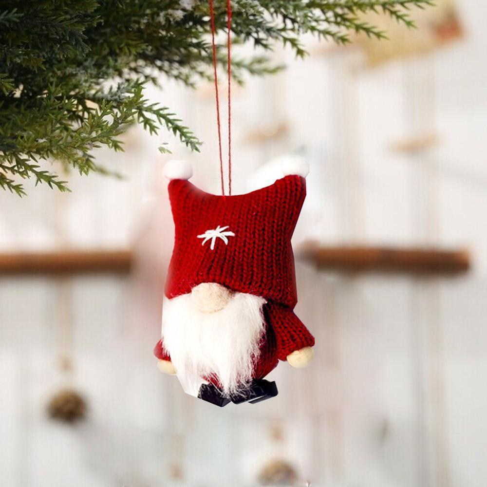Kids Gifts Toys Pendant Plush Gnome Doll Christmas Ornament Xmas Tree Hanging