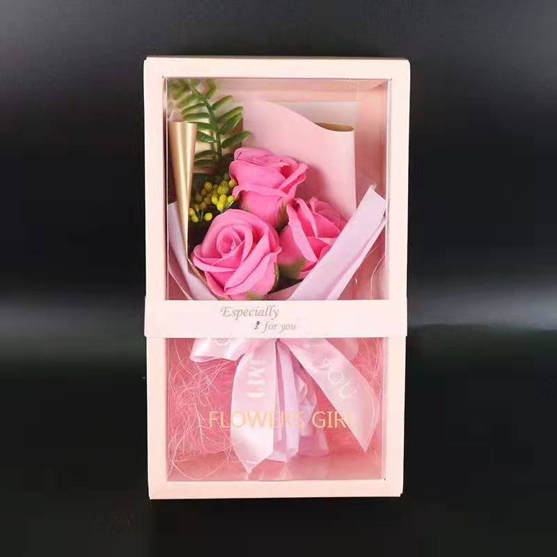 Valentine's Days Gift For Girlfriend Mother's Day Gift Soap rose Flower Box
