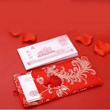 Китайский стиль, красный конверт, ткань, искусство, обручение, Подарочная сумка с Новым годом, Высококачественная парчовая свадебная сумочка с кисточками и бантиком, карман для денег