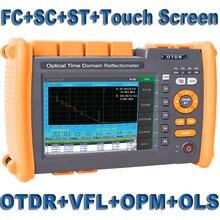 Fiber optik OTDR Fiber optik Reflectometer dahili VFL OLS ile OPM FC SC ST dokunmatik ekran raporu baskı 1310nm 1550nm 32 30dB