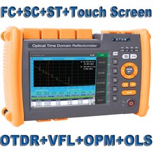 Reflectómetro de fibra óptica OTDR, VFL OLS OPM integrado con pantalla táctil FC SC ST, 1310nm, 1550nm, 32, 30dB