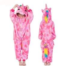 kigurumi Pajamas Girls Rainbow Unicorn Pyjamas Children&Baby Boy Sleepwear Animal Panda Licorne Kids Costume Jumpsuit