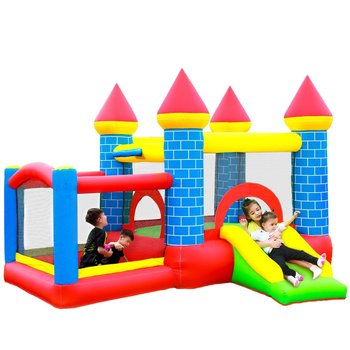 Mini Bouncer Yard Bouncer Inflatable Bounce House Jumping Bouncy Castle House with Air Blower for Kids yard inflatable bounce house kids funny bouncy castle 3 5x3x2 7m with slide pvc inflatable games children jumping bouncer house