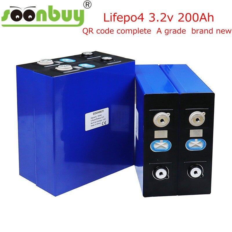 2021 Новый Lifepo4 3.2v200ah Новый lifepo4 перезаряжаемый аккумулятор 3.2v200ah аккумулятор, подходит для солнечной батареи 12В 200ah