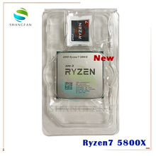 NEW AMD Ryzen 7 5800X R7 5800X 3.8 GHz Eight-Core sixteen-Thread 105W CPU Processor L3=32M  100-000000063 Socket AM4 no fan