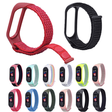 Soft Nylon Breatherable Replacement watch strap for Xiaomi Mi Band 3/Mi 4 Bracelet Wrist Smart Watch Accessories