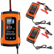3 Stages Fast Safe Universal Smart Battery Charger Full Automatic Automobile Motorcycle Car 12V With Plug 6A LCD Display #726