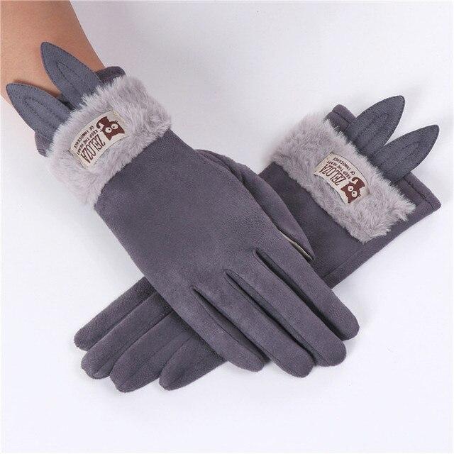 Rabbit Ears Gloves Women...