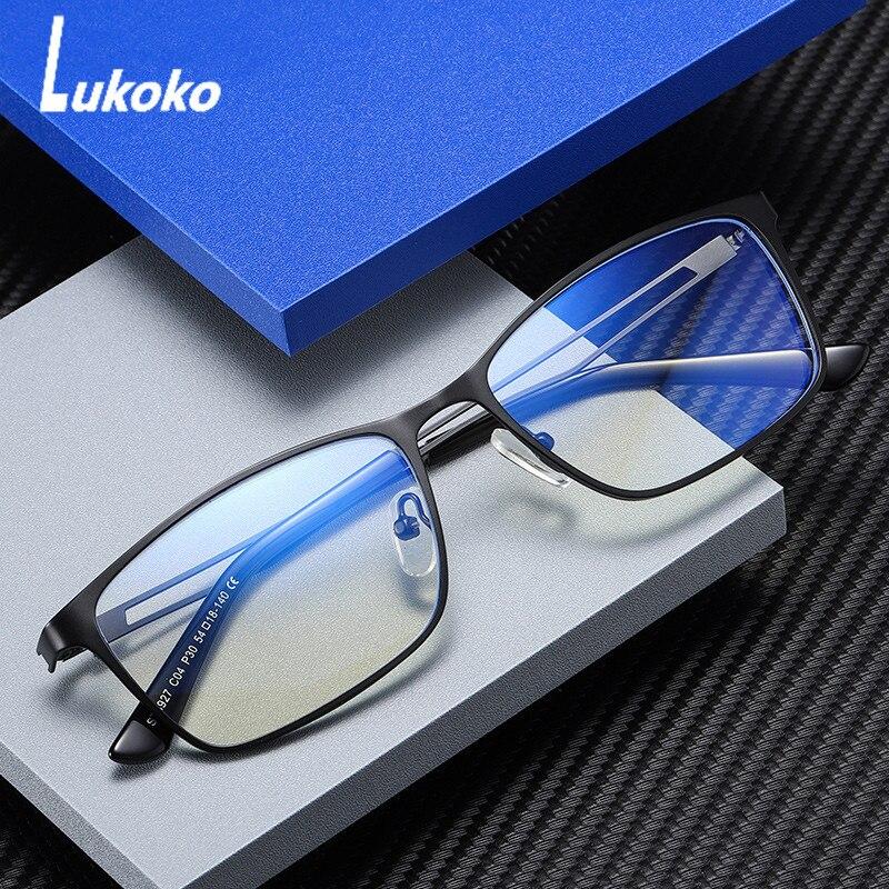 LUKOKO Anti Blue Light Radiation Glasses For Men Computer Gaming Eyeglasses Blocker Blocking Ray Goggles Lentes Para Computadora