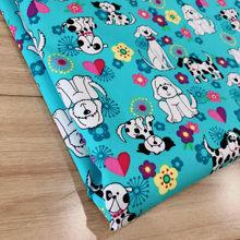 Nuevo 50x140cm cachorros de perro de acolchado de Mantel cojines almohada de tela de algodón 100% Patchwork tela de gamuza liso