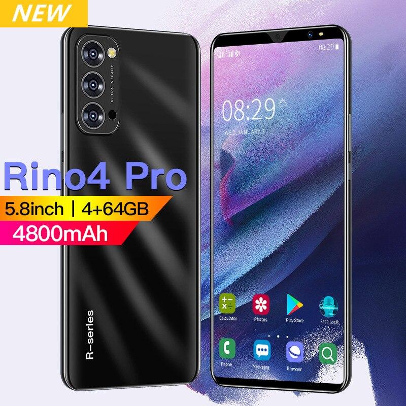 2021 смартфон 4G 64GB 8 + 13 Мп HD Камера Globla версия 4800 мА/ч, Две сим-карты 5,8 дюймов полный Экран Android популярные мобильные телефоны