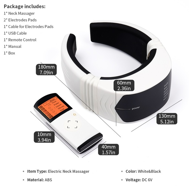 Wireless Remote Control Neck Electric Pulse Massager Cervical Physiotherapeutic Tool Body Relaxation Pain Relief Equipment 5